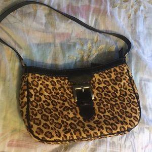 Talbots spotted hair calf handbag